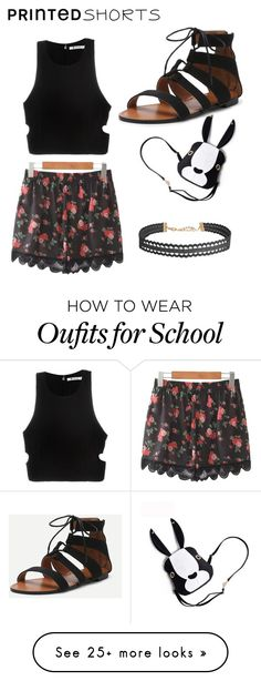 """Printed Shorts"" by mynameisjanestyle on Polyvore featuring T By Alexander Wang, Humble Chic and printedshorts"
