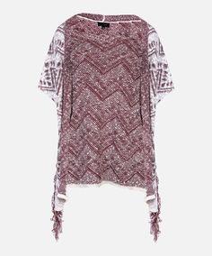 Maroon Chevron Fringe Side Kimono #AggieGifts #Aggiestyle