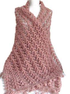 Scialle all'uncinetto...shawl.knitting da sposa da sposa, moda, alzata di spalle, Stola, capelet, crema, donne, scarflette,