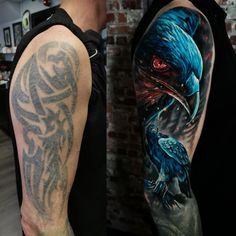 Cover Up Tattoos For Men Arm, Tribal Tattoo Cover Up, Tatoo 3d, Cover Tattoo, Tattoos For Guys, Koi Tattoo Sleeve, Nature Tattoo Sleeve, Tattoo Sleeve Designs, Cara Delevingne Tattoo