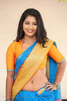 Hot South Indian Actress Navel in Saree spicy pics latest collection. Tollywood Actress Teja Reddy alias Tanishka showcases her eye-popping assets in Designer Blouse and Lehenga Saree exposing her shiny navel to the delight of the audience. Indian Film Actress, South Indian Actress, Indian Actresses, Hottest Pic, Hottest Photos, Hot Actresses, Beautiful Actresses, Lehenga Saree, Sari