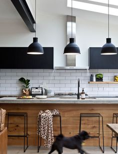 Old meets new in this beautiful matte kitchen. Create your own look like this with FENIX NTM: http://www.rehau.com/us-en/furniture/surfaces/matte/fenix?utm_content=bufferb4acf&utm_medium=social&utm_source=pinterest.com&utm_campaign=buffer