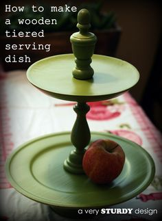 Wooden Tiered Serving Plates & Pedestal Dishes {tutorial}