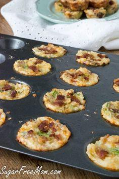 Cheddar Cauliflower Bacon Bites, low carb, gluten free