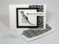 Stampin' Up! No Bones About It Card Idea - http://stampinpretty.com/2015/06/stampin-up-no-bones-about-it-card-idea.html A humorous twist on No Bones About It that shows dinosaurs aren't just for little ones.