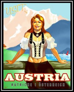 Austria Travel Poster by ninjaink on DeviantArt