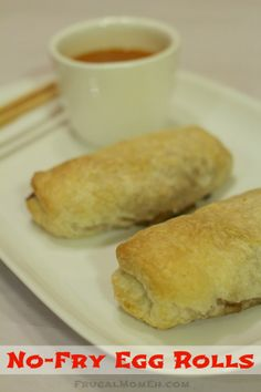 No-Fry Egg Rolls - Frugal Mom Eh!