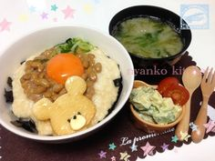 Grated yam and natto bowl