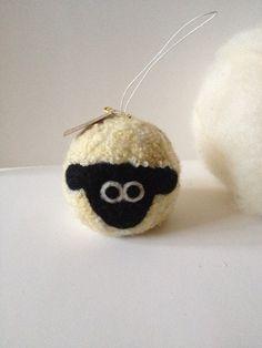 Needle felted Sheep Animal Ornament