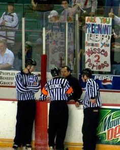 Hockey signs are usually the wittiest…