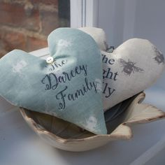 Bee Name Heart Blue. Perfect to hang on a door or in the hallway. Makes people smell lavender as soon as they walk in - perfection!