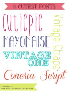 Free Font Friday // 5 CUTEST FONTS   Oh Everything Handmade