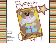 Granny Goes to School: Free Bear Craftivity and Adorable Christmas Book Creation Activities, Literacy Activities, Christmas Books, Christmas Videos, Teaching Materials, Teaching Ideas, Happy December, Bear Theme, We Bear
