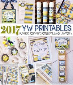 2017 YW Theme Printables - Ask of God, Ask in Faith... printable gift ideas, New Beginnings, bookmarks, lip balm labels, candy bar wrappers, nugget wrappers, tile art, subway art, presidency planners, class presidency planners, bottle cap images and more - such a great collection!! #mycomputerismycanvas