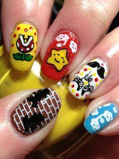 geeky nail art
