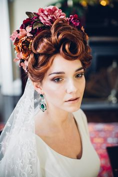 Elegant Autumn Wedding Inspiration for the lovers of darker colours. Tempting chocolate truffle cake and unique handmade cocktails too divine to say no to. Captured by WhiteCatStudio and styled by Petal&Twine. Irish Wedding, Wedding Veil, Autumn Wedding, Wedding Designs, Wedding Styles, Floral Headpiece, Vintage Bridal, Bridal Accessories, Flower Crown