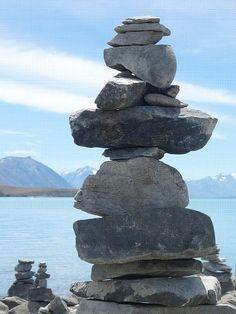 Rock Piles at Tekapo