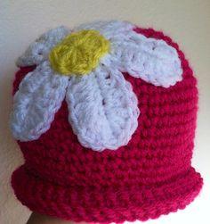 Crochet Girl Spring Fling Daisy Flower Hat