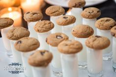 Late Night Sweets- Miniature Chocolate Chip Cookies & Milk Shooters ...