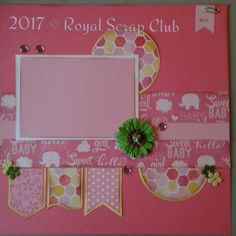 Sweet Baby Girl 2page layout kit