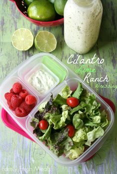 Cilantro Lime Ranch Dressing - 50 healthy work lunch ideas - FamilyFreshMeals.com - familyfreshmeals.com