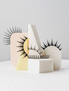 Even the most delicate of items can make a statement - eyelashes by Amanda Ringstad.