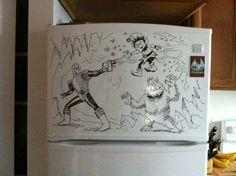 Fantastic fridge art by Charlie Clayton - 15 Pics