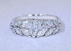 Catawiki online auction house: 1.54 ct marquise Diamond ring - No reserve price!