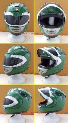 Green Ranger Motorcycle Helmet! - RangerBoard