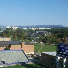 Every time we think the press box view couldn't possibly be more beautiful, we're wrong #jmudukes #jmuwm