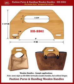 handmade purse pictures | Fashion Bermuda Purse and Handbag Wooden Handle - Hand made Wood ...