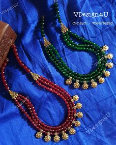 Beaded Necklace Designs India beside Jewellery Box Hsn Code until Jewellery Photography App underneath Jewellery Ear Jewelry Beaded Jewelry Designs, Gold Jewellery Design, Bead Jewellery, Jewelry Patterns, Necklace Designs, Gold Jewelry, Pearl Jewelry, Ankle Jewelry, Designer Jewellery