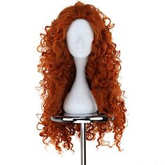 Neue BRAVE Film MERIDA lange lockige orange Anime Cosplay Perücke - EUR € 29.99