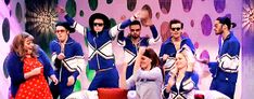 One Direction and Amy Adams rocked their Chassé warmups from omnicheer.com on Saturday Night Live!