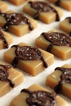 Microwave Sea Salt Caramels - Fast and easy to make. Plain or drizzled with chocolate, they are chewy, gooey treats that everyone loves.