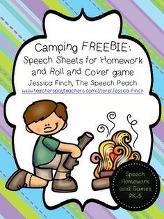 Use the homework sheets and open-ended game board to target all areas of speech.