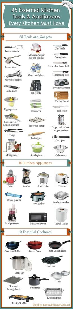 45 Essential Kitchen Tools and Appliances – Every Kitchen Must Have. Designed by - BDHire.com Tap the link for an awesome selection of drones and accessories to start flying right away. Take flight today with a new hobby! Always Free Shipping Worldwide!