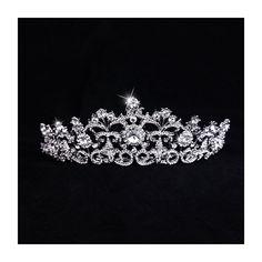 Wristchie Women's Fashion Shiny Crystal Bridal Wedding Party Proms Tiara ** Click image for more details.