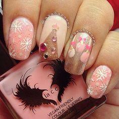 christmas by ayabananna #nail #nails #nailart...a different spin on holiday nails sans red and green