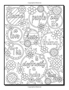 Amazon.com: I Hate My Ex-Boyfriend: An Adult Coloring Book with Funny Romance Quotes, Inspirational Sayings for Women, and Relaxing Flower Patterns (9781543169348): Jade Summer: Books