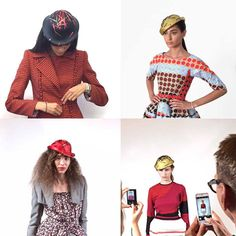 Hats by Giuseppe Tella Dresses by Wunderkind