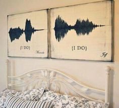 Sound art as a romantic reminder of your vows. Cute Wedding Ideas, Wedding Goals, Perfect Wedding, Our Wedding, Wedding Planning, Dream Wedding, Wedding Inspiration, Crafty Wedding Ideas, Wedding Vow Art
