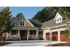 Floor Plan AFLFPW07349 is a beautiful 2325 square foot  Craftsman  home design with 2 Garage Bays