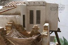 Construcción realizada en poliestireno extruido para figuras de 20cm  Cántaros: Mibako Terrarium, Mount Rushmore, Scenery, Projects To Try, Mountains, Wood, Crafts, Deviantart, Google