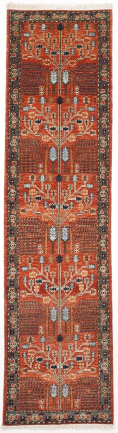 """Hand-Knotted Pakistan Runner - 2'8"""" x 10'"""