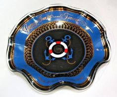 Gurneys Inn Ashtray Montauk NY Vintage 1980s Timeshare Hotel Glass Dish Advertising #GurneysInn