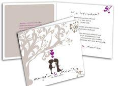 Hochzeitskarten - Modern Lovetree