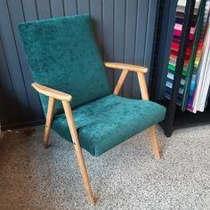 50-luvun kevyt nojatuoli ja vihreä sametti ❤