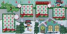 HOME-FOR-THE-HOLIDAYS-CHRISTMAS-2-premade-scrapbook-pages-paper-piecing-CHERRY