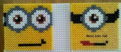 Minion coasters hama perler beads by deco. Minions, Art For Kids, Crafts For Kids, Arts And Crafts, Hama Beads Patterns, Beading Patterns, Perler Bead Art, Perler Beads, Plastic Canvas Coasters
